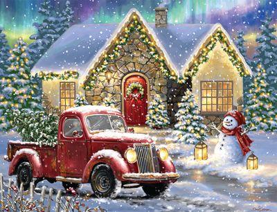 Christmas Light Lane 500 Piece Puzzle