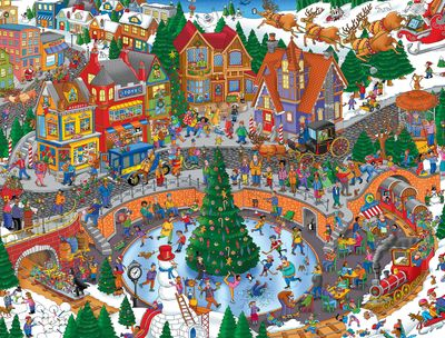 Holiday Havoc 400 Piece Jigsaw Puzzle