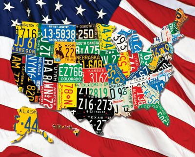 State Plates 1000 Piece Jigsaw Puzzle