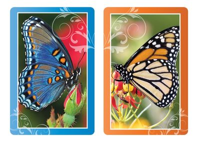 Butterfly Jumbo Print Index Playing Cards