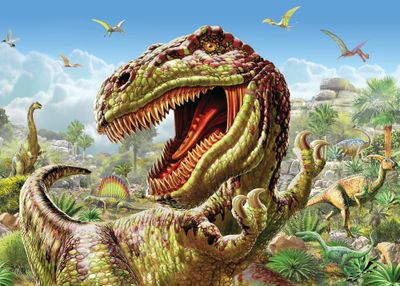 T-Rex 100 Piece Jigsaw Puzzle
