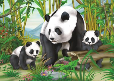 Panda 35 Piece Jigsaw Puzzle
