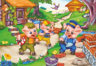 Three Little Pigs 35 Piece Jigsaw Puzzle