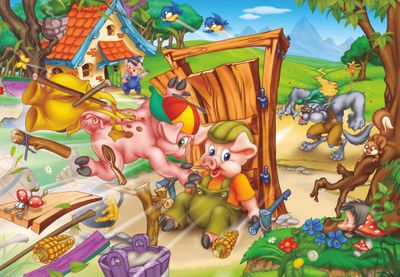 The Three Little Pigs 240 Piece Jigsaw Puzzle