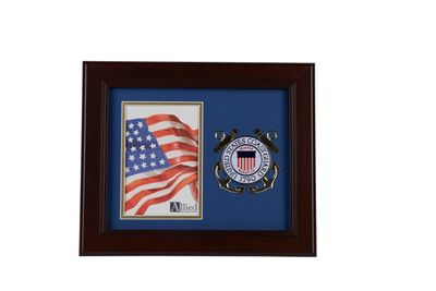 U.S. Coast Guard Medallion 4-Inch by 6-Inch Portrait Picture Frame