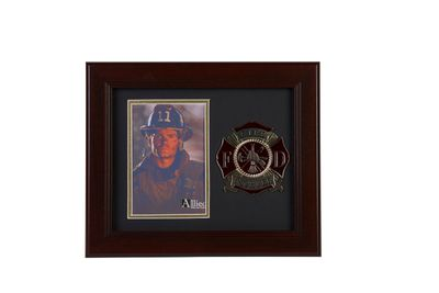 Firefighter Medallion 4-Inch by 6-Inch Portrait Picture Frame