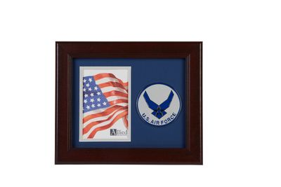 Aim High Air Force Medallion 4-Inch by 6-Inch Portrait Picture Frame