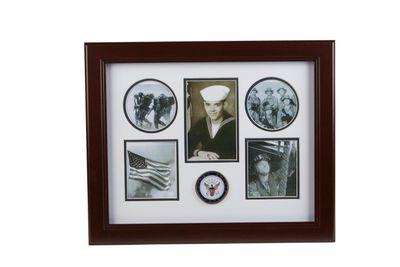 U.S. Navy Medallion 5 Picture Collage Frame