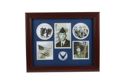 Aim High Air Force Medallion 5 Picture Collage Frame