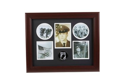 POW MIA Medallion 5 Picture Collage Frame