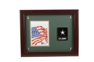 Go Army Medallion 5-Inch by 7-Inch Picture Frame with Stars