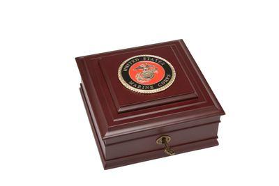 U.S. Marine Corps Medallion Desktop Box