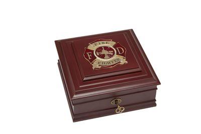 Firefighter Medallion Desktop Box