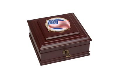 American Flag Medallion Desktop Box