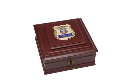 Police Department Medallion Desktop Box