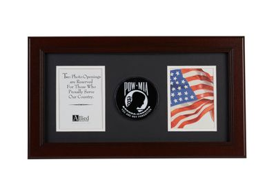 POW-MIA 10-Inch by 18-Inch Double Picture Frame