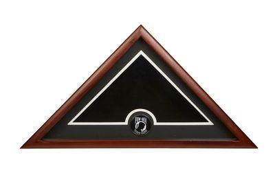 US Flag Display Case with POW MIA Medallion - No Flag