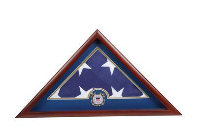 US Flag Display Case with Coast Guard Medallion
