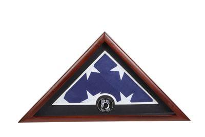 US Flag Display Case with POW MIA Medallion