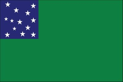 "Green Mountain Boys Stick Flag - 4"" x 6"" - Endura-Gloss"