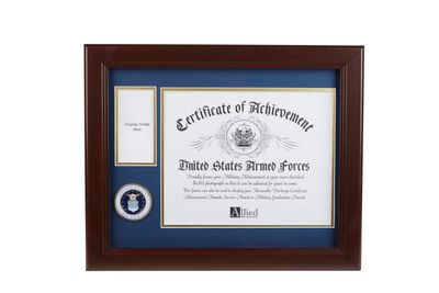 U.S. Air Force Medallion 8-Inch by 10-Inch Certificate and Medal Frame