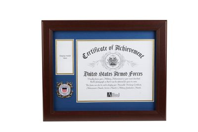 U.S. Coast Guard Medallion 8-Inch by 10-Inch Certificate and Medal Frame