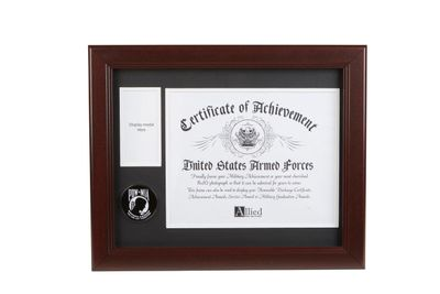 POW MIA Medallion 8-Inch by 10-Inch Certificate and Medal Frame