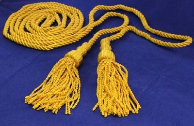 Flag Cord & Tassel - Spanish Golden