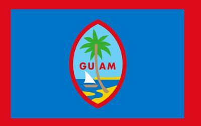 Guam Flag w/ Pole Hem & Fringe - 3' x 5' - Nylon