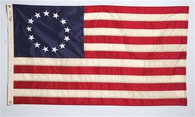 "Betsy Ross Flag - 12"" x 18"" - Aniline Dyed Nylon"