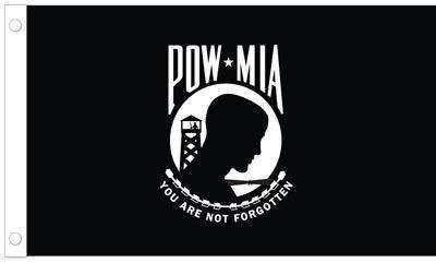 POW/MIA Flag - 4 x 6 Single Sided Nylon