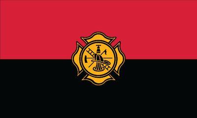 Fireman Remembrance Flag - 3' x 5' - Nylon
