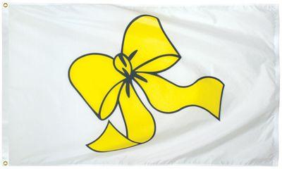 Yellow Ribbon Flag - 3' x 5' - Nylon