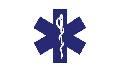 Star of Life Flag - 3' x 5' - Nylon