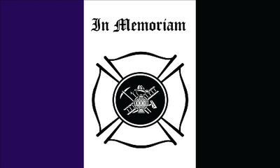 Fireman Mourning Flag - 3' x 5' - Nylon