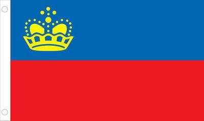 Liechtenstein World Flag