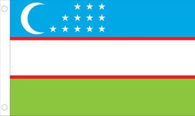 Uzbekistan World Flag