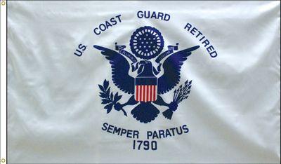 Coast Guard Retirement Flag - 3' x 5' - Polyester