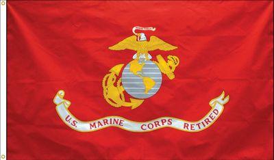 Marine Corps Retirement Flag - 3' x 5' - Polyester
