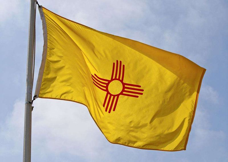 New Mexico State Flags Nylon Polyester 2 X 3 To 5 X 8