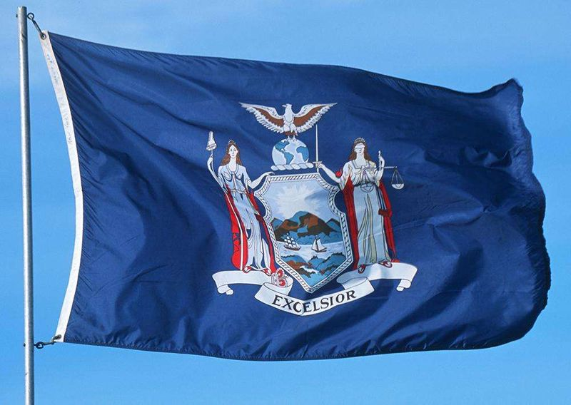 THE BIG APPLE NEW YORK US STATE FLAGS Size 5x3 Feet NEW YORK FLAG