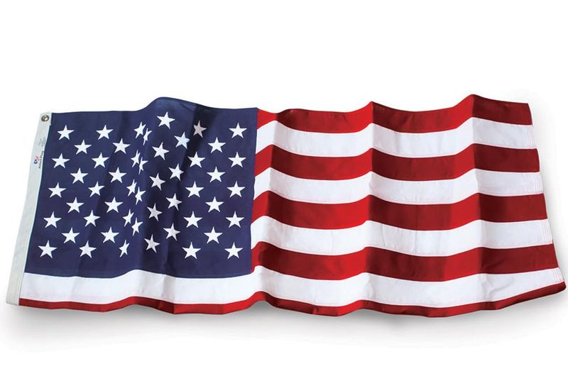 Allied Flag American Polyester US Flag and Flag Pole Set