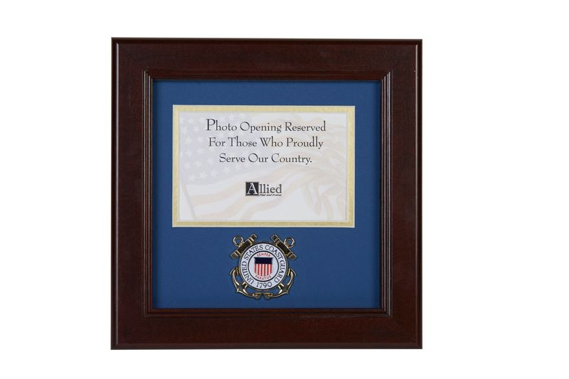 U S Coast Guard Medallion 4 Inch By 6 Inch Landscape Picture Frame